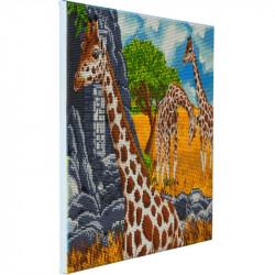 Giraffer- 40 x 50 cm diamant billede