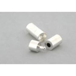 rund lås 8 mm sølvfarvet