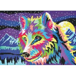 Multifarvet ulv Diamantbilled