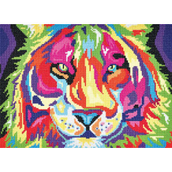 Multifarvet tiger Diamantbilled