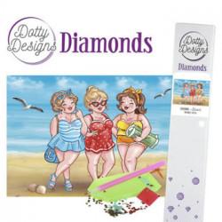 Damer på stranden diamant billed